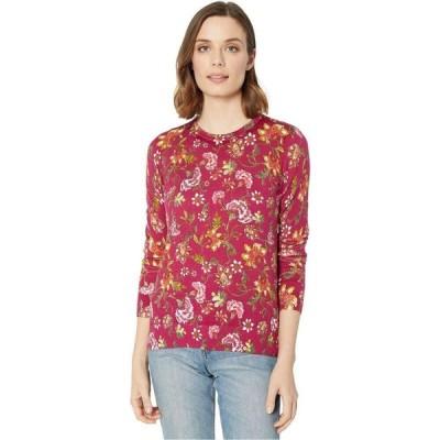 ラルフ ローレン LAUREN Ralph Lauren レディース スウェット・トレーナー トップス Floral Cotton-Blend Sweater Bright Fuchsia/Multi
