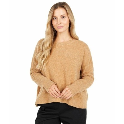 エイリーンフィッシャー ニット&セーター アウター レディース Organic Cotton Boucle Sweater Honey