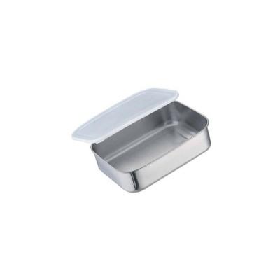 【まとめ買い10個セット品】 抗菌ステンレス キッチンバット 密閉蓋付 小 220×170×63【 ストックポット・保存容器 】