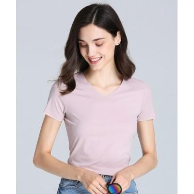 aimoha / 超弾力シームレスU型Teeシャツ WOMEN トップス > Tシャツ/カットソー