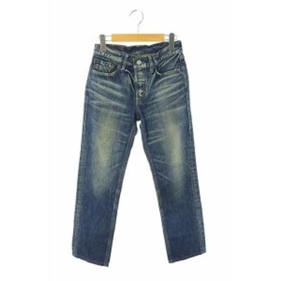 【中古】Levi's LEVI STRAUSS & CO. W501-00 ボタンフライデニムジーンズパンツ テーパード 28 青 ■OS レディース