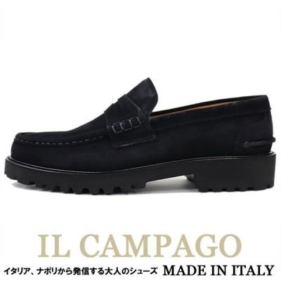 ローファースリッポンシューズ スエード メンズ 本革 IL CAMPAGO イルカンパゴ イタリア製 ビジネスシューズ ネイビー4