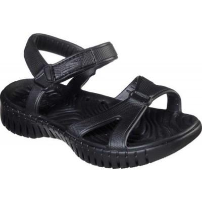 スケッチャーズ Skechers レディース サンダル・ミュール シューズ・靴 Cali Gear Go Walk Smart Aloha Walking Sandal Black/Black