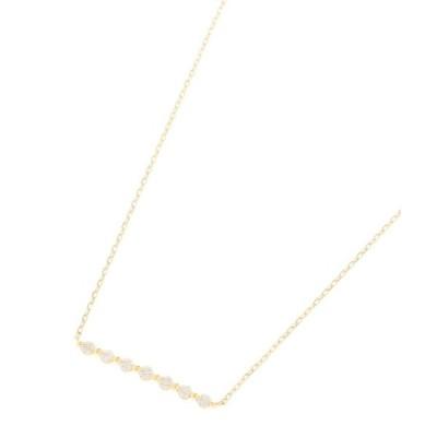 COCOSHNIK / ココシュニック K18ダイヤモンド 伏せ込み7石横バー ネックレス