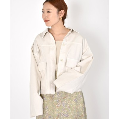 【ダブルクローゼット】 ショートジャケット レディース キナリ FREE w closet