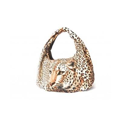 "Lee Sands Women's Leopard Hobo Bag 17""W x 17.5""H x 5""D Tan/Brown並行輸入品 送料無料"