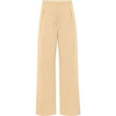ジル サンダー Jil Sander レディース ボトムス・パンツ High-Rise Straight Wool-Jersey Pants Medium Yellow