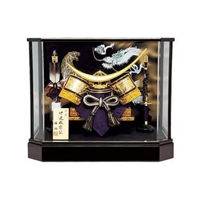 人形工房天祥-五月人形-コンパクト-ケース飾り「伊達政宗公龍に虎」兜ケース飾り