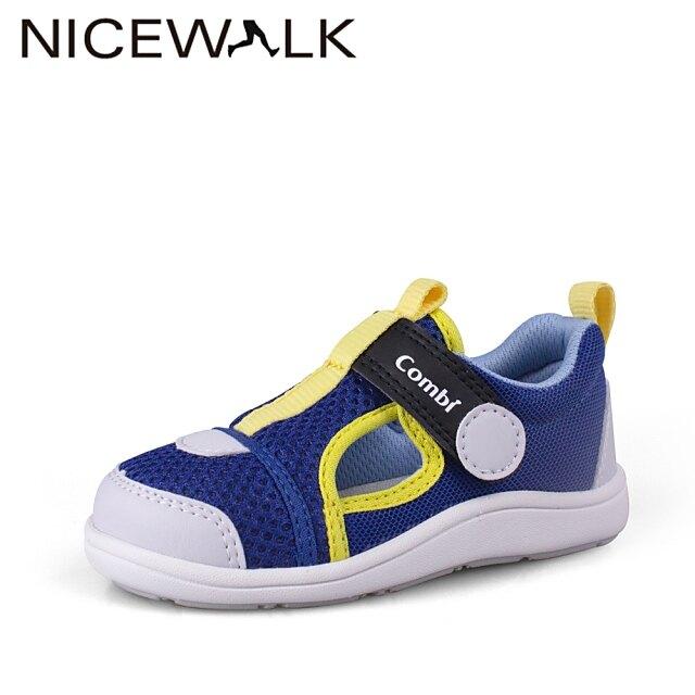 日本Combi童鞋NICEWALK 醫學級成長機能鞋A2101BL藍(中小童段)