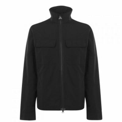 バブアー Barbour International メンズ ジャケット オーバーシャツ アウター Shaw Overshirt Jacket Black BK