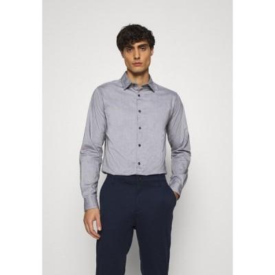 スプリングフィールド シャツ メンズ トップス SOLID PINPOINT STRETCH - Shirt - dark grey