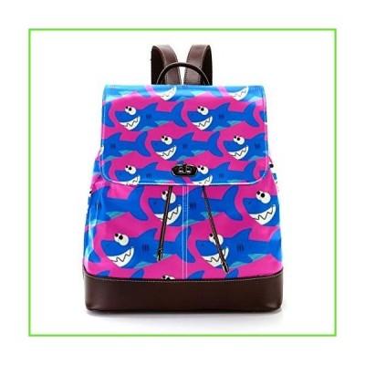 Casual PU Leather Backpack for Men, Women's Shoulder Bag Students Daypack for Travel Business College Color Shark【並行輸入】【新品