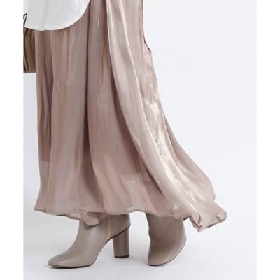 スカート シアー割線フレアスカート