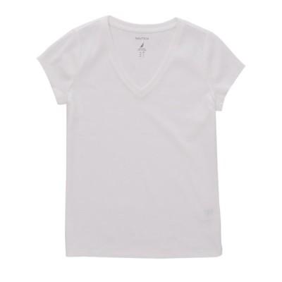 Tシャツ ノーティカ Nautica レディース クラシック Vネック TeeBRIGHT WHITE