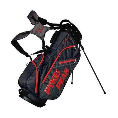 公式 PYKES PEAK「パイクスピーク」キャディーバッグ スタンド式軽量 2.2kg 全10色 14本収納 ゴルフバッグ47インチ対応/