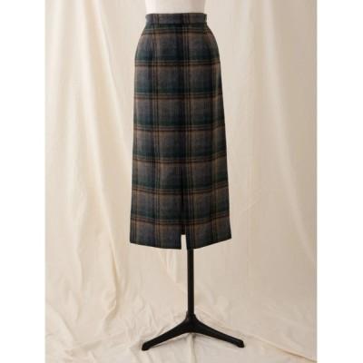 Ailand / ウールシャギーチェックペンシルスカート WOMEN スカート > スカート