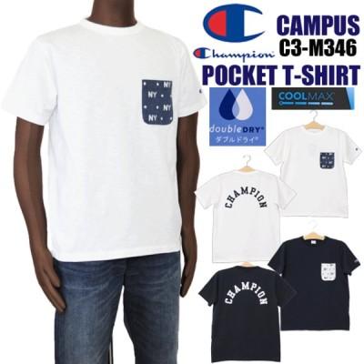 Champion チャンピオン C3-M346 キャンパス 半袖ポケットTシャツ メンズ アメカジ プリントTシャツ campus CAMPUS champion CHAMPION