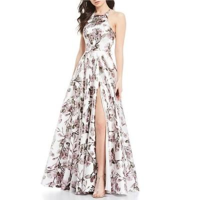 ビーダーリン レディース ワンピース トップス High Neck Foiled-Floral-Print Ball Gown
