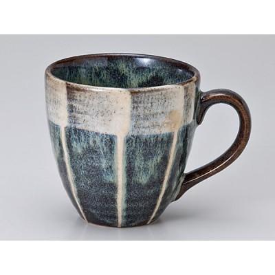 マグカップ おしゃれ/ 窯変十草黒なつめマグ /業務用 家庭用 コーヒー カフェ ギフト プレゼント 贈り物