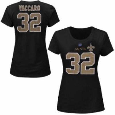 Majestic マジェスティック スポーツ用品  Kenny Vaccaro New Orleans Saints Womens Fair Catch IV Player T-Shirt - Bla