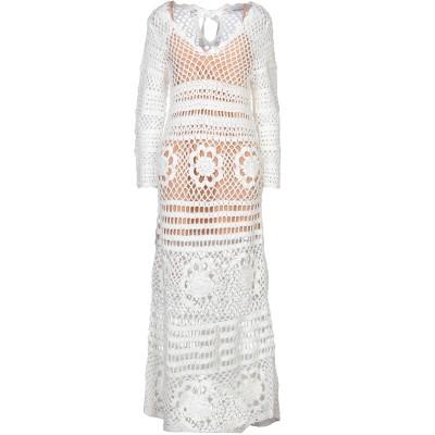 SELF-PORTRAIT ロングワンピース&ドレス ホワイト L コットン 100% ロングワンピース&ドレス