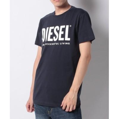 【エシェルリベルテ】 DIESEL T-DIEGO-LOGO ディーゼル ロゴプリント Tシャツ 00SXED-0AAXJ メンズ ネイビー M ECHELLE LIBERTE