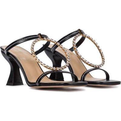 J.W.アンダーソン JW Anderson レディース サンダル・ミュール シューズ・靴 embellished leather sandals Black