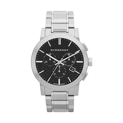 スイス製シルバーブラック日付ダイヤル42mmメンズクロノグラフステンレススチール腕時計The City BU9351