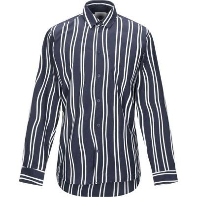 ミニマム MINIMUM メンズ シャツ トップス Striped Shirt Dark blue