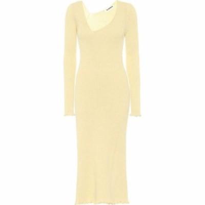 ジル サンダー Jil Sander レディース ワンピース ミドル丈 ワンピース・ドレス Wool-blend midi dress Open Yellow