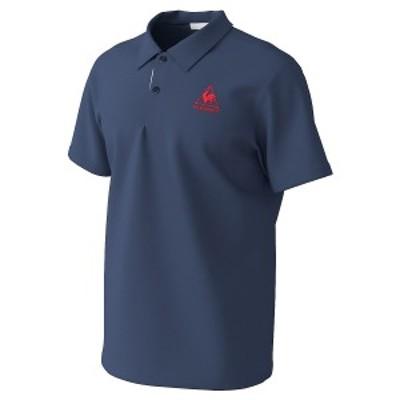 【セール】 ルコックスポルティフ メンズスポーツウェア 半袖機能ポロシャツ 襟付き半袖シャツ QMMPJA71ZZ NVY NVY