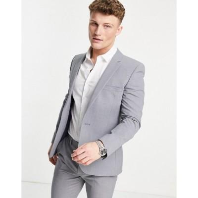 エイソス ASOS DESIGN メンズ スーツ・ジャケット アウター Super Skinny Suit Jacket In Mid Grey グレー