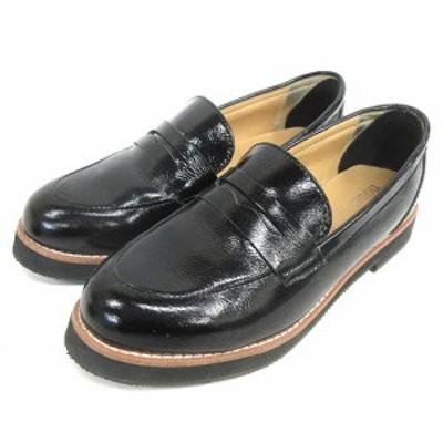 【中古】ヌエール nouer  ローファー ペニー 37 ブラック 210205E 靴 レディース