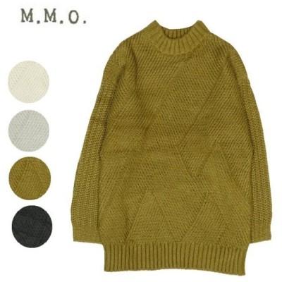 m.m.o リブクロス編みニットチュニック cvk5092t