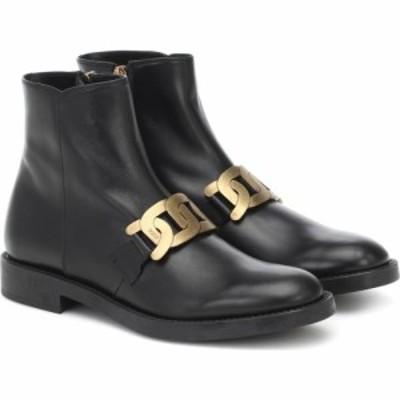 トッズ Tods レディース ブーツ ショートブーツ シューズ・靴 Kate Leather Ankle Boots Black