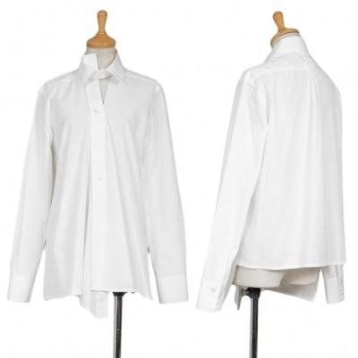 ワイズY's アシンメトリーカッティングデザインシャツ 白3 【レディース】