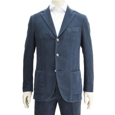 サンタニエッロ SANTANIELLO ネイビースウェット 本切羽 3つボタンシングルジャケット 国内正規品 メンズ Men's