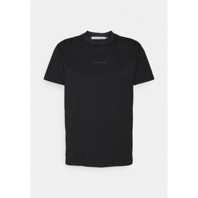 カルバンクライン Tシャツ メンズ トップス LOGO TEE UNISEX - Print T-shirt - black