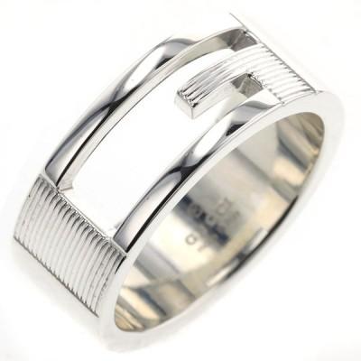 グッチ リング 指輪 ブランデッドG 幅約8mm シルバー925 16号 メンズ GUCCI 中古 K01222533
