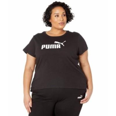 プーマ レディース シャツ トップス Plus Size Essential Logo Tee Cotton Black