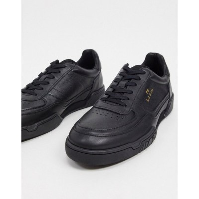 ポールスミス PS Paul Smith メンズ スニーカー シューズ・靴 Atlas leather trainers in black ブラック