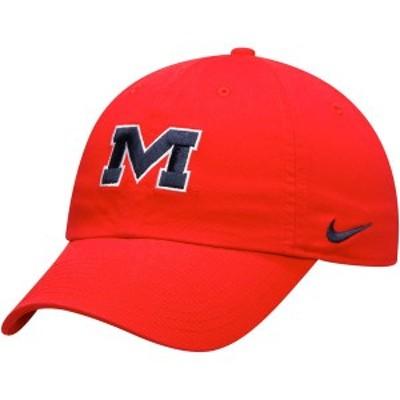 ナイキ メンズ 帽子 アクセサリー Ole Miss Rebels Nike Alternate Logo Heritage 86 Adjustable Hat Red