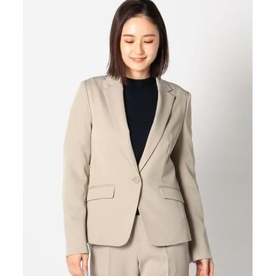 【ミューズ リファインド クローズ】 ウォッシャブルテーラードジャケット レディース ベージュ S MEW'S REFINED CLOTHES