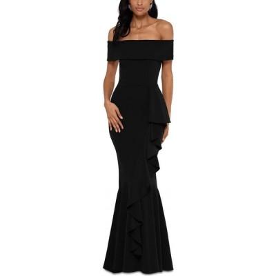 ベッツィアンドアダム Betsy & Adam レディース パーティードレス ワンピース・ドレス Off-The-Shoulder Mermaid Gown Black
