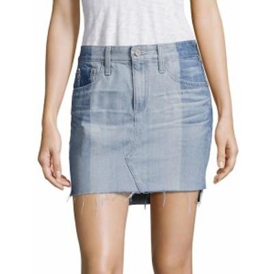 AG アドリアーノ ゴールドシュミード レディース スカート Sandy Colorblock Denim Mini Skirt