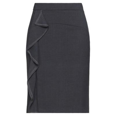 CLIPS MORE ミディスカート グレー 46 ポリエステル 52% / バージンウール 43% / ポリウレタン 5% ミディスカート
