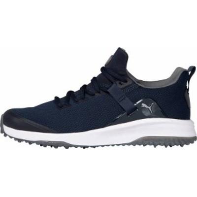プーマ メンズ スニーカー シューズ PUMA Men's Fusion EVO Golf Shoes Navy/Grey