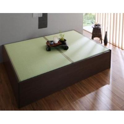 布団収納できる 美草 小上がり畳ベッド 〔ベッドフレームのみ・敷布団なし〕 シングル 〔畳色〕グリーン