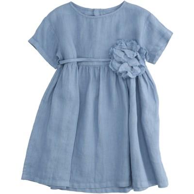 IL GUFO ワンピース・ドレス ブルーグレー 24 麻 100% ワンピース・ドレス