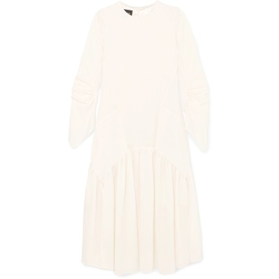 アクリス AKRIS 7分丈ワンピース・ドレス ホワイト 6 ウール 100% 7分丈ワンピース・ドレス